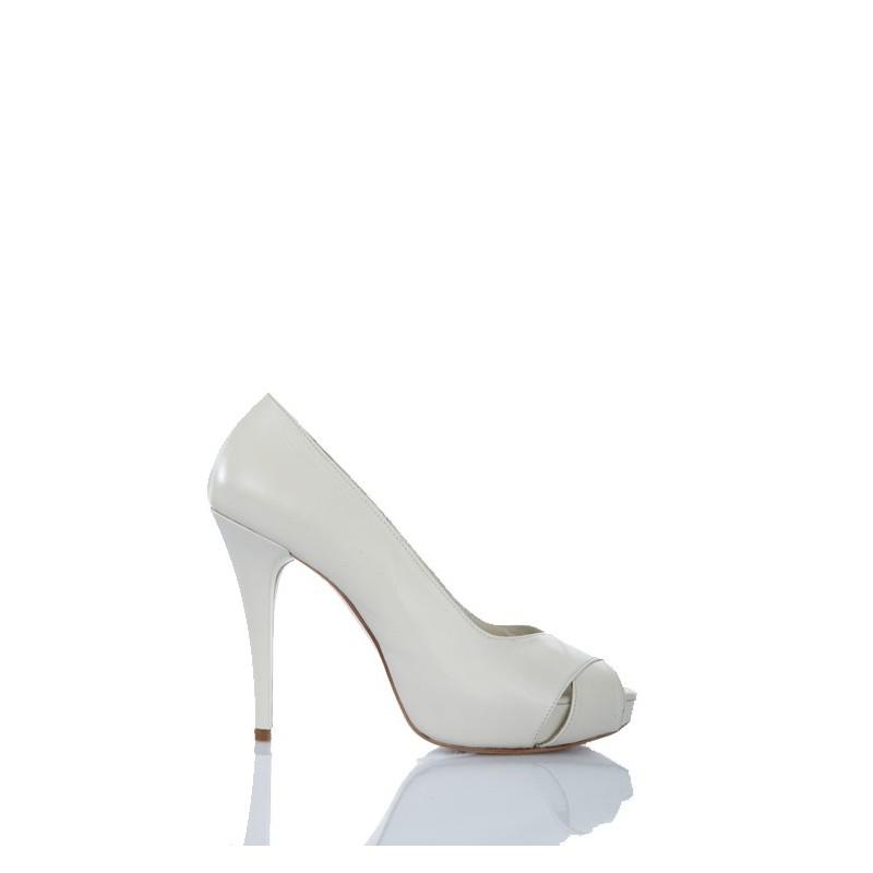zapatos de novia blanco crudo tacon alto 12 cm