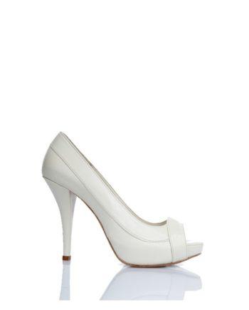 zapatos de novia peeptoes blancos tacon alto