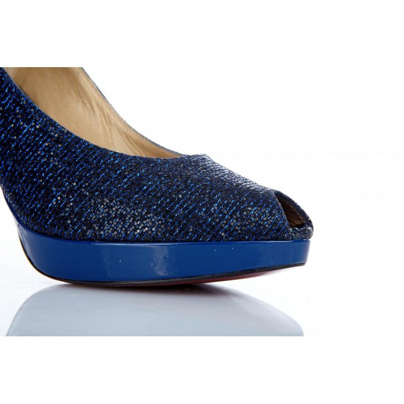 peeptoes glitter azul