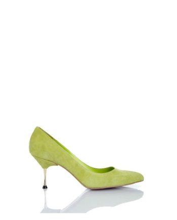 zapato-mujer-ante-verde-tacon-dorado