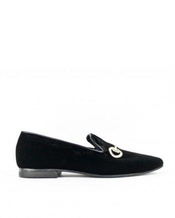 zapatos caballero slippers terciopelo negro