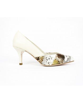 zapatos-blancos-piel y piton patchwork