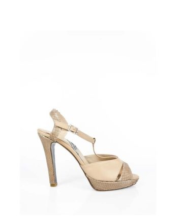 zapatos de novia beige tacon alto