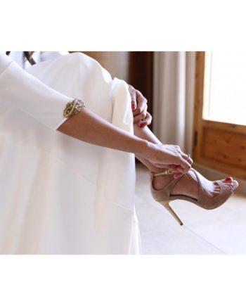 sandalias boda novia nude