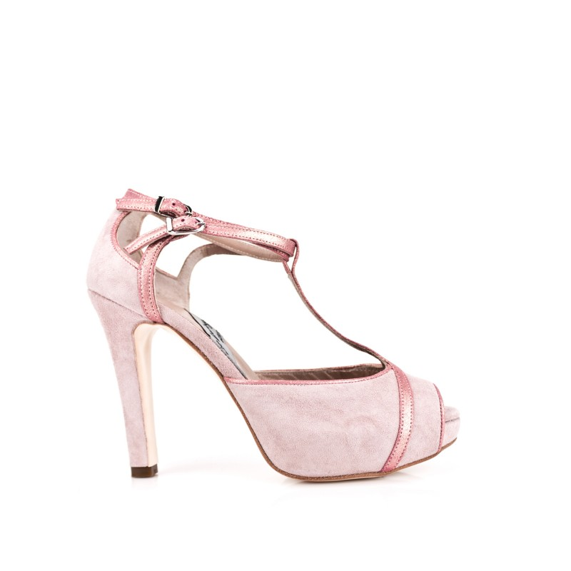 zapatos de novia rosas peeptoes