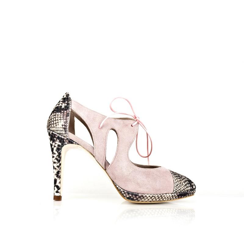 zapato de mujer rosa palo