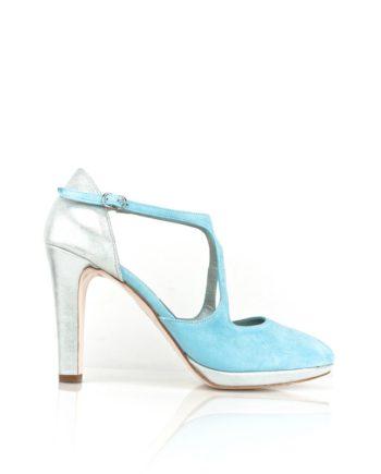 zapatos de novia azul cielo