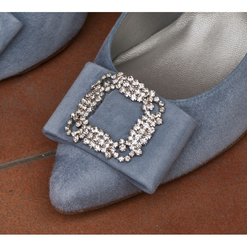 Lazo a tu gusto para tus zapatos con adorno de hebilla swarovski