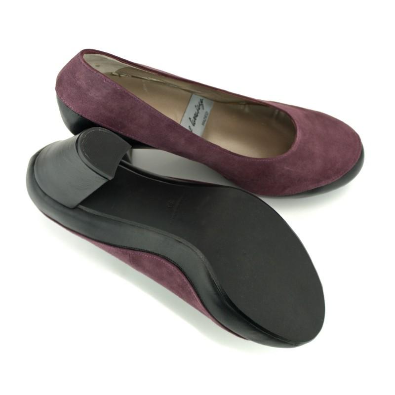 zapatos salon tacon ancho y plataforma interior oculta