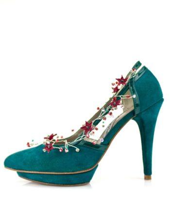 adorno para tus zapatos con cristales y porcelana japonesa en diversos colores