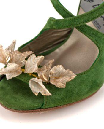 adorno para tus zapatos hojas blancas porcelana japones