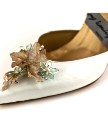 adorno flores porcelana japonesa para tus zapatos