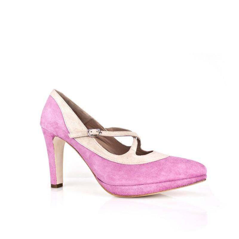zapatos rosas de novia