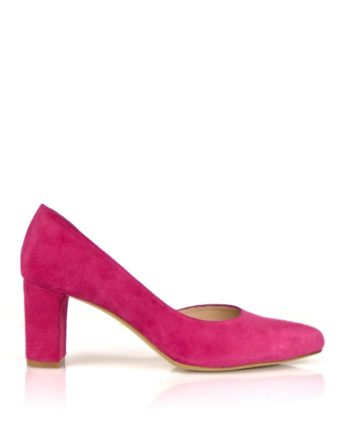 zapatos salon de mujer stilettos fuxia buganvilla tacon 6 cm