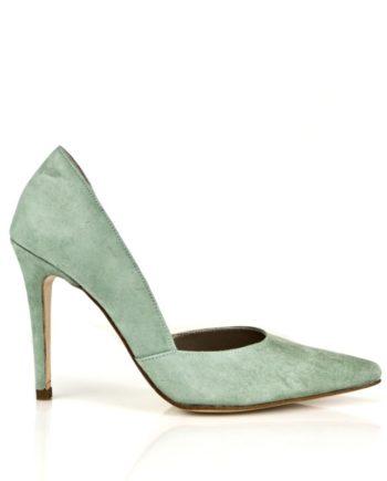 zapatos stilettos ante zafiro con tacon de 10 cm